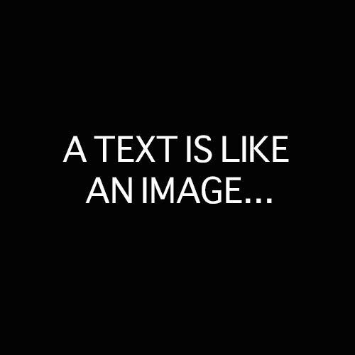 A TEXT IS LIKE AN IMAGE...