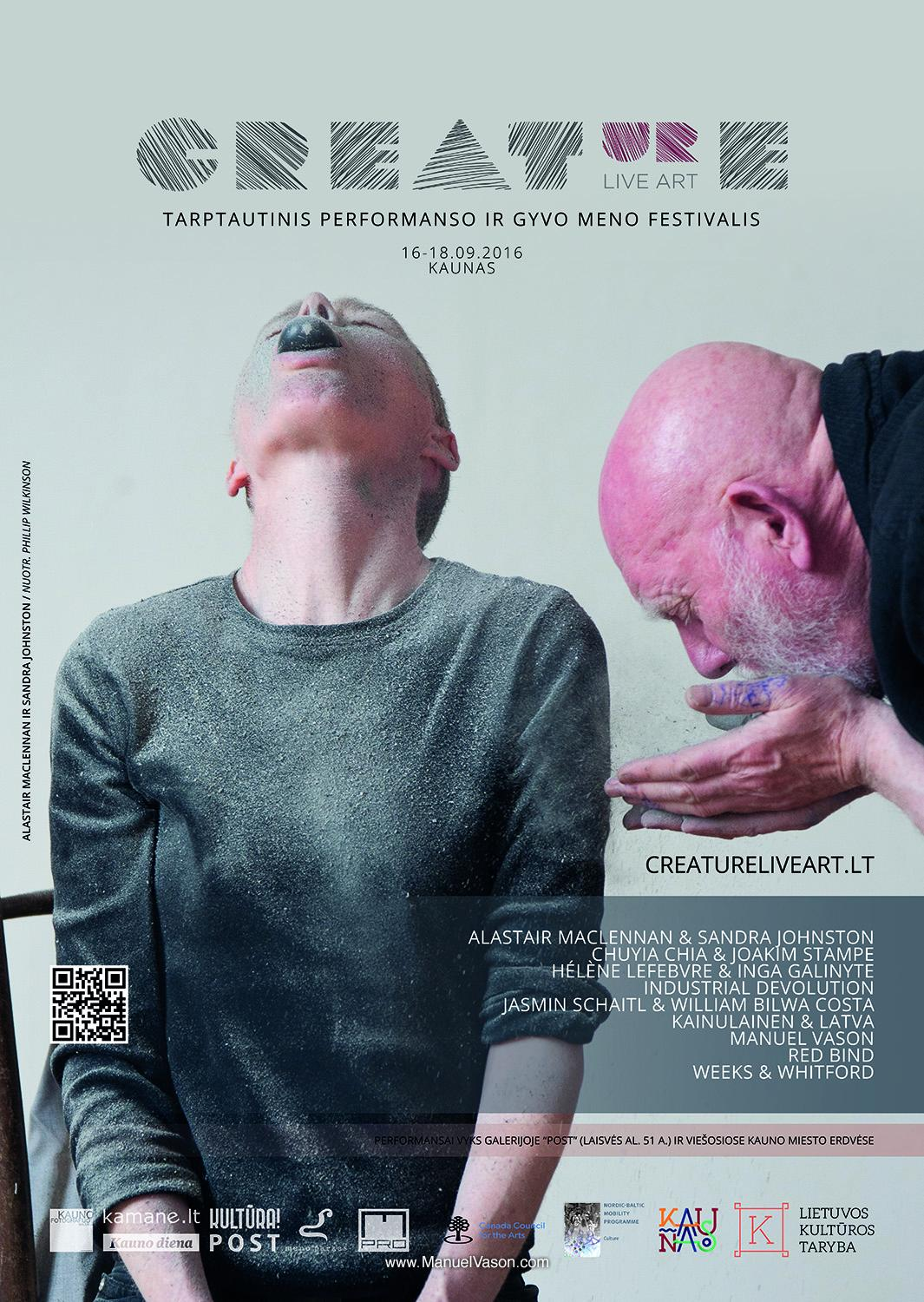 Participation at Creature Live Art Festival in Lithuania
